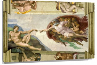Lienzo Creation Of Adam De Michelangelo