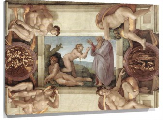 Lienzo Creation Of Eve De michelangelo