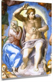 Lienzo Christ And Mary De michelangelo