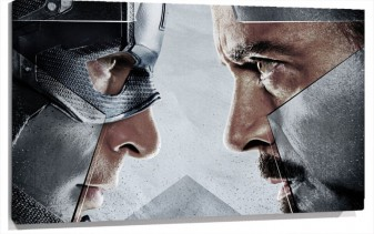 Lienzo Capitan America Vs Ironman en Civil war