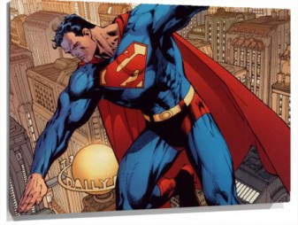 Miniatura Comic Superman volando