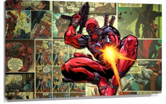 Lienzo Superheroe Deadpool Man