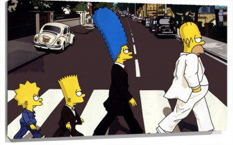 Lienzo The Simpson Beatles