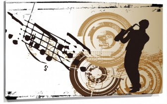 Lienzo Saxofon Movimiento
