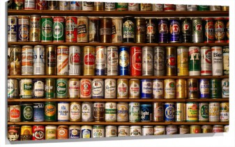 Lienzo Beer-Cans