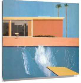 Miniatura David Hockney - A bigger splash (1967)