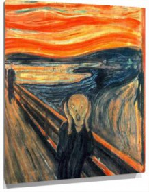 Miniatura Munch El grito - The grunge