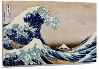 Miniatura Hokusai Under the great wave of Kanagawa - Bajo la gran ola