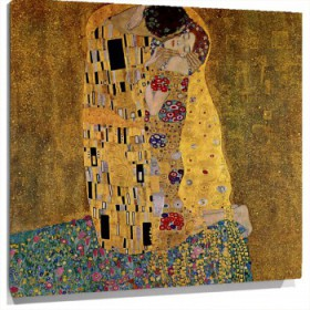 Miniatura El beso (original) gustav klimt  The kiss