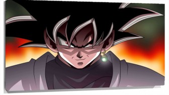 Lienzo Dragon Ball super Goku pelo negro