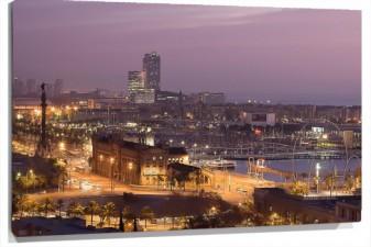 Lienzo Barcelona Amanecer
