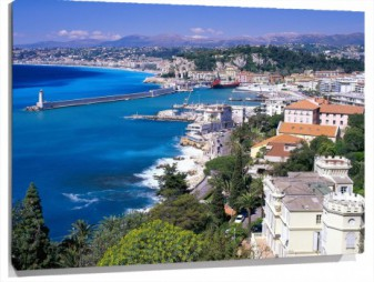 Lienzo Coastal View Nice France