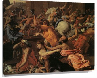 Lienzo The rape of the Sabine Women