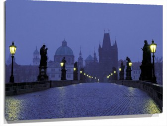 Lienzo Prague at Dusk Czech Republic