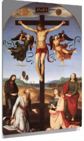 Lienzo Crucifixion with Sts Mary Virgin, Mary Magdalen, John and Jerome