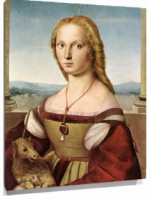 Lienzo Lady with a Unicorn