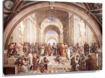 Miniatura The School of Athens