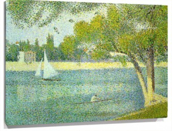 Lienzo The Seine at Le Grande Jatte