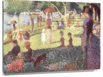 Lienzo Sunday Afternoon on the Isle of Lan Grande Jatte