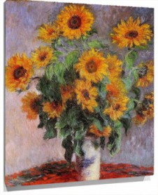 Lienzo bouquet of sunflowers