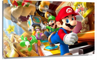 Lienzo Mario Party