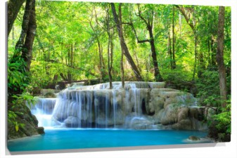 Lienzo cascada agua cristalina