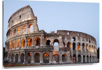 Lienzo coliseo romano roma