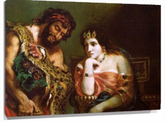 Lienzo Cleopatra and the Peasant