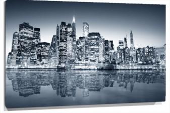 Lienzo a nueva york de noche
