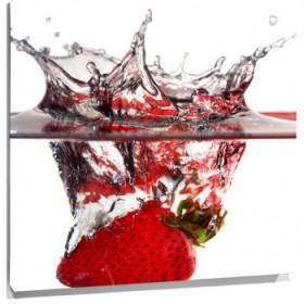 Lienzo fresa en agua