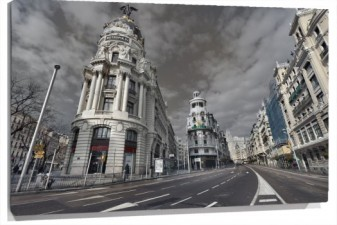 Lienzo gran via de madrid