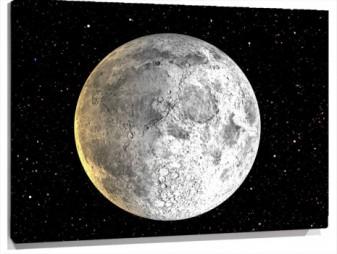 Lienzo luna llena