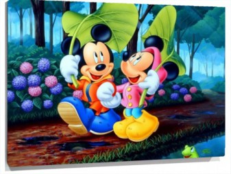 Lienzo Mickey y Minnie