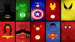 Murales Cartas De Batman Capitan America Flash Ironman Linterna Verde Mujer Maravilla Robin Spiderman Superm