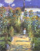 Murales Garden Of The Artist At Vetheuil De Claude monet
