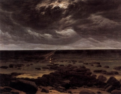 Murales  Seashore With Ship Wreck By Moonlight De Caspar David Friedrich