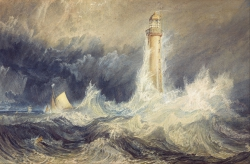 Murales Bell Rock Lighthouse J M W Turner
