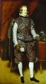 Fotomural Philip IV in Brown and Silver