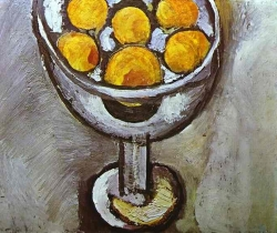 Murales A vase with Oranges