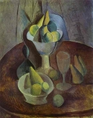 Murales Compotier, Fruit, and Glass
