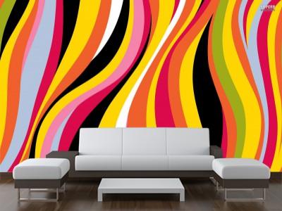 Foto mural ondas de colores abstracto for Muebles arjona rota