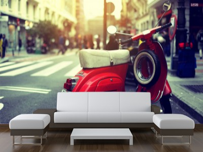 Foto mural red vespa vehiculos for Muebles inchausti