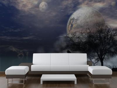 Foto mural lobo y luna astros for Muebles arjona rota