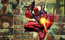 Murales Superheroe Deadpool Man