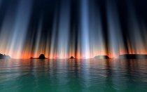 Lienzo Luces Nortenas Sobre el Lago