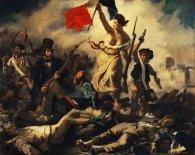 Lienzo Eugene Delacroix La libertee guidant le peuple - La libertad guiando al pueblo