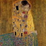 Lienzo El beso (original) gustav klimt  The kiss