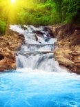 Murales Cascada agua muy azul