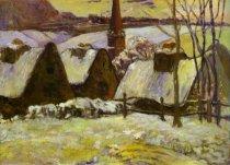 Murales Breton Village In Snow