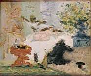 Murales Cezanne D Apres Une Moderne Olympia